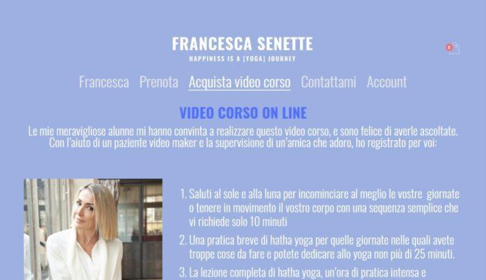 Francesca Senette prenotazioni