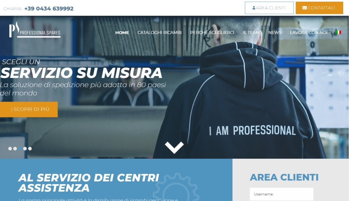 Professional Spares web